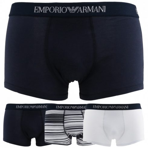 Emporio Armani Férfi Boxers 3PACK_7P722_43935_DARKBLUE MOST 25146 HELYETT 14102 Ft-ért!